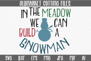 Build a Snowman SVG Cut File Graphic By oldmarketdesigns