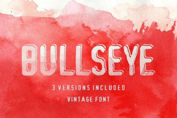 Print on Demand: Bullseye Serif Font By bywahtung