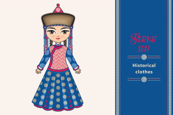 Download Free Buryat Doll Historical National Costume Graphic By Zoyali for Cricut Explore, Silhouette and other cutting machines.