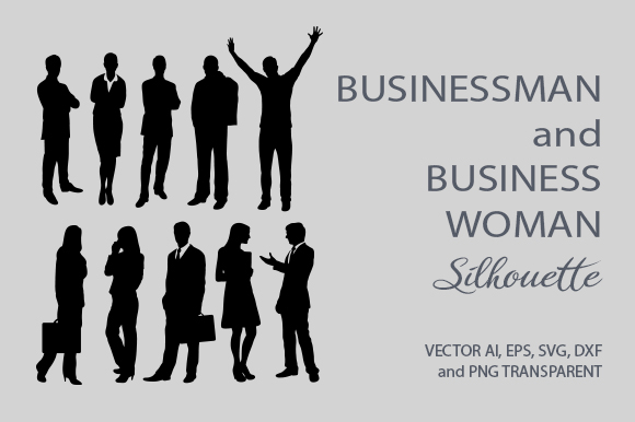 Download Free Businessman And Business Woman Silhouette Graphic By Cove703 for Cricut Explore, Silhouette and other cutting machines.