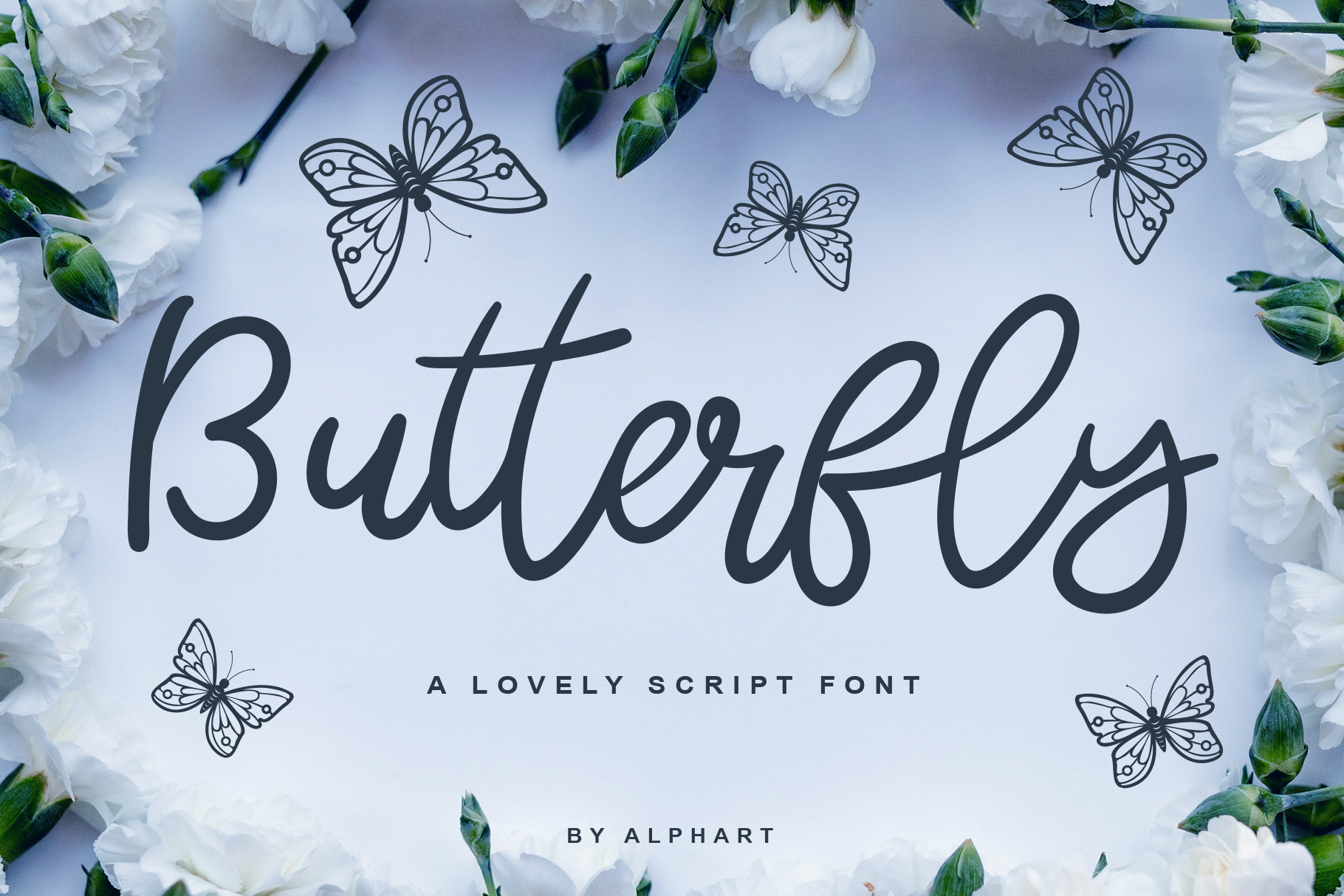 Download Free Butterfly Script Font By Alphart Creative Fabrica for Cricut Explore, Silhouette and other cutting machines.