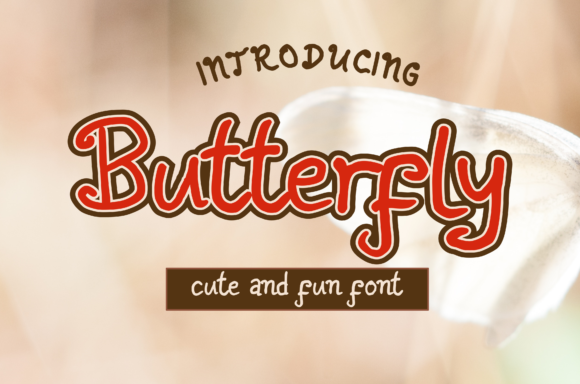 Print on Demand: Butterfly Script & Handwritten Font By pandanwangi