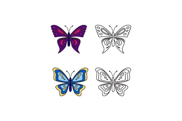 Print on Demand: Butterfly Vector Illustration Graphic Illustrations By sabavector