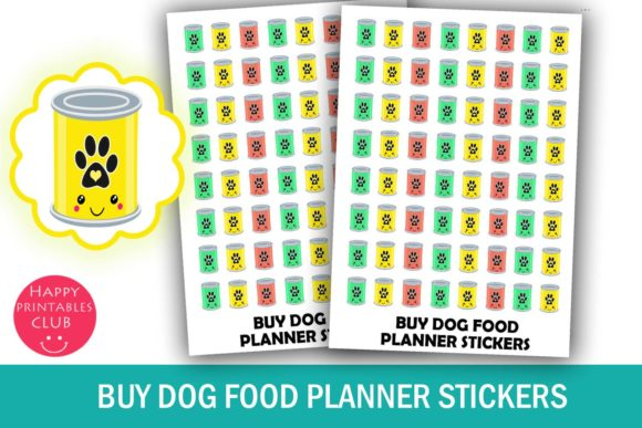 Print on Demand: Buy Dog Food Planner Stickers Graphic Crafts By Happy Printables Club
