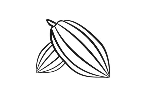 Download Free Cacao Bean Mono Line Logo Graphic By Yahyaanasatokillah for Cricut Explore, Silhouette and other cutting machines.