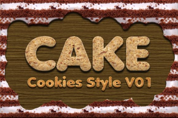Print on Demand: Cake Cookies Style Graphic Layer Styles By yantodesign