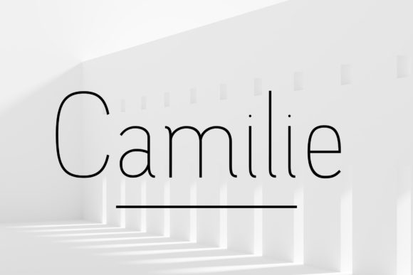 Print on Demand: Camilie Family Sans Serif Font By Corgi Astronaut