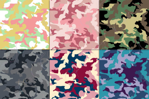 Print on Demand: Camo Digital Paper Graphic Patterns By fantasycliparts - Image 2