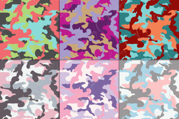 Print on Demand: Camo Digital Paper Graphic Patterns By fantasycliparts - Image 3