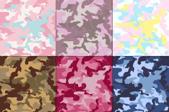 Print on Demand: Camo Digital Paper Graphic Patterns By fantasycliparts - Image 4