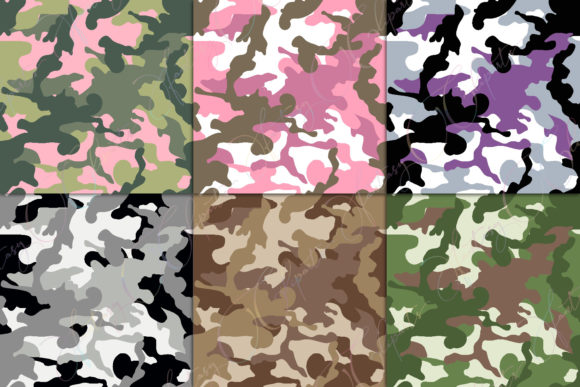 Print on Demand: Camo Digital Paper Graphic Patterns By fantasycliparts - Image 5