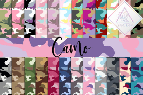 Print on Demand: Camo Digital Paper Graphic Patterns By fantasycliparts