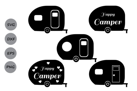 Download Free Camper Graphic By Cosmosfineart Creative Fabrica SVG Cut Files