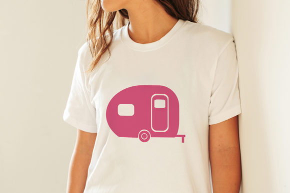 Print on Demand: Camper Graphic Crafts By CosmosFineArt - Image 3