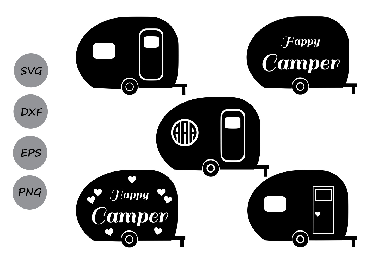 Download Free Camper Graphic By Cosmosfineart Creative Fabrica for Cricut Explore, Silhouette and other cutting machines.