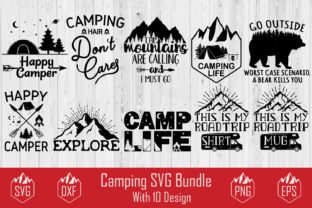 Download Free Camping Bundle Graphic By Creativespace Creative Fabrica for Cricut Explore, Silhouette and other cutting machines.