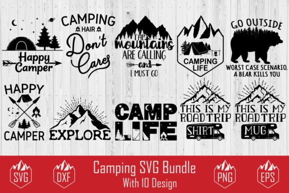 Camping Bundle Graphic Crafts By creativespace