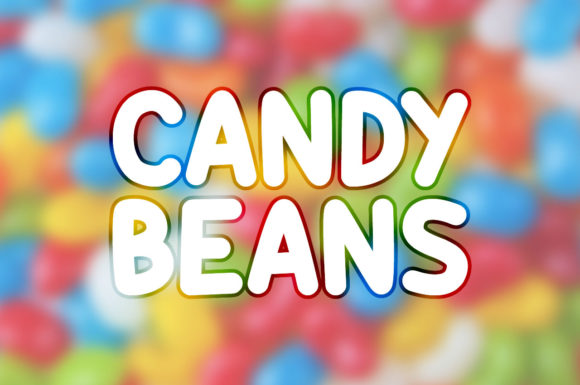 Print on Demand: Candy Beans Display Font By Chequered Ink
