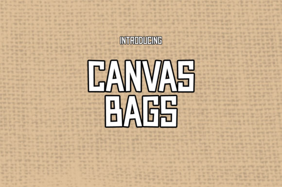 Print on Demand: Canvas Bags Display Font By Chequered Ink - Image 1