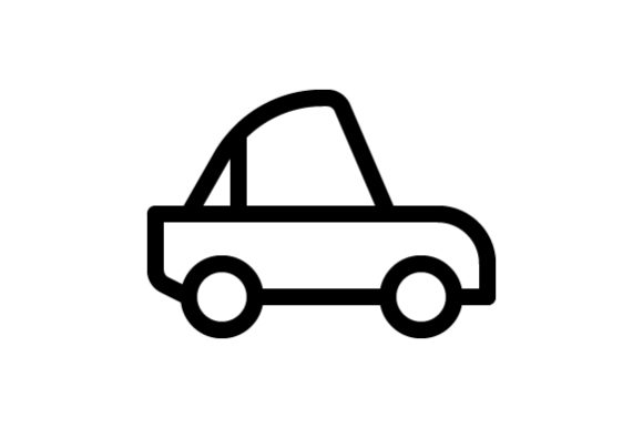 Download Free Car Outline Icon Graphic By Muhazdinata Creative Fabrica for Cricut Explore, Silhouette and other cutting machines.