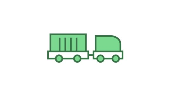 Download Free Cargo Train Graphic By Iconika Creative Fabrica for Cricut Explore, Silhouette and other cutting machines.