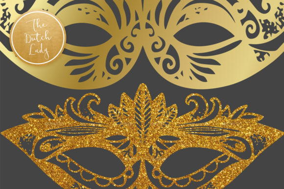 Download Free Carnival Mardi Gras Masks Clipart Graphic By Daphnepopuliers for Cricut Explore, Silhouette and other cutting machines.