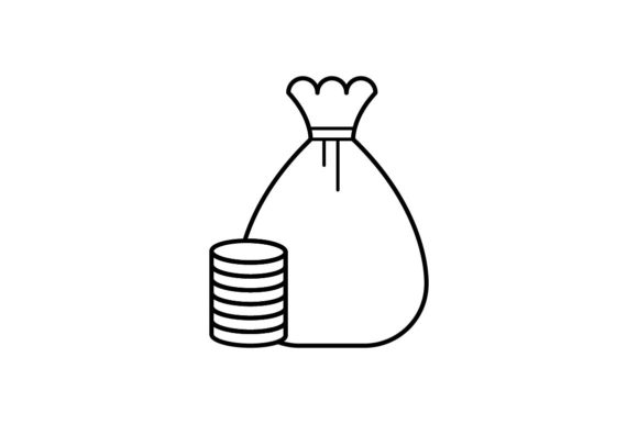 Print on Demand: Cash Bag Graphic Icons By khld939