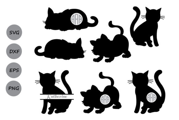 Download Free Cat Cutting Graphic By Cosmosfineart Creative Fabrica for Cricut Explore, Silhouette and other cutting machines.