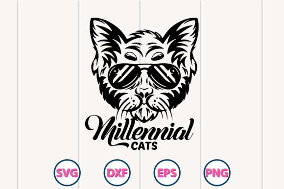 Cat Silhouette SVG Design Graphic Crafts By graphiccyle - Image 1