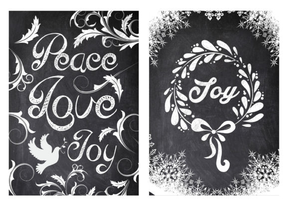 chalkboard christmas card template graphic by mg design creative