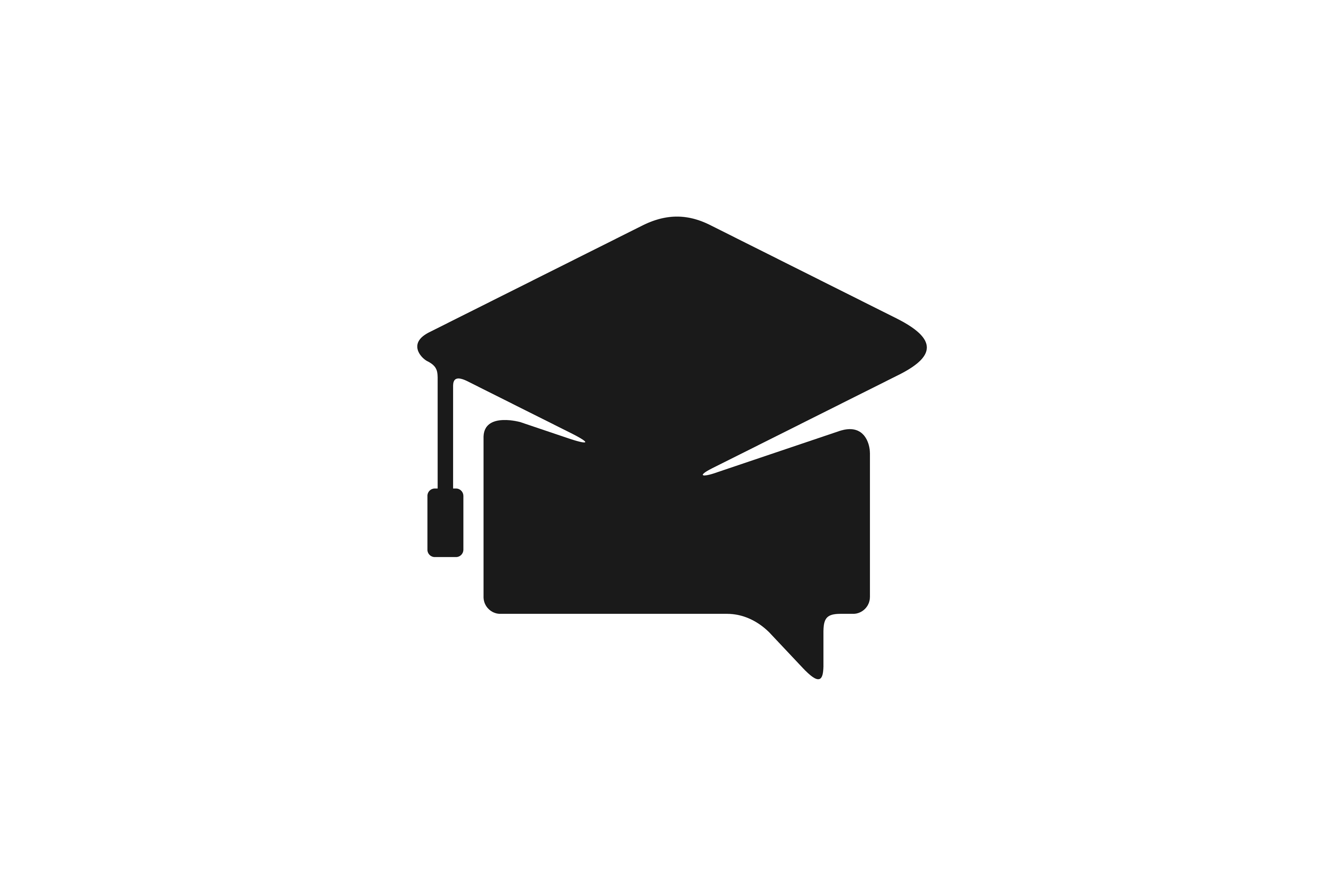 Download Free Chat Graduation Cap Logo Graphic By Yahyaanasatokillah for Cricut Explore, Silhouette and other cutting machines.