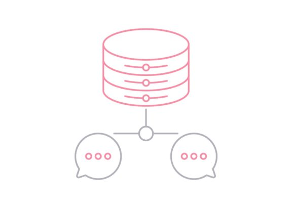 Print on Demand: Chat Database Graphic Icons By Iconika