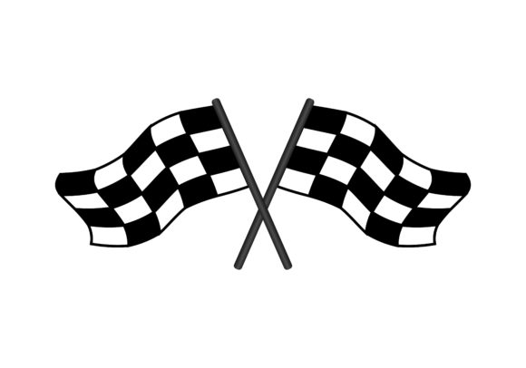Download Free Checkered Crossed Flags Icon Graphic By Deemka Studio Creative for Cricut Explore, Silhouette and other cutting machines.