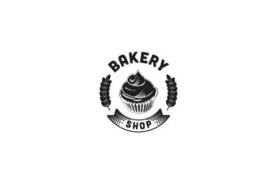 Print on Demand: Chef Hat Bakery Logo Graphic Logos By WANGS