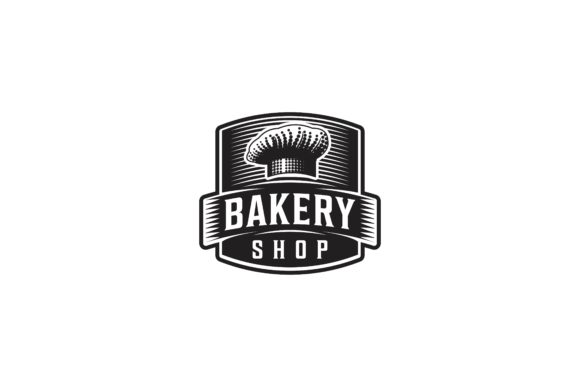 Download Free Chef Hat Bakery Shop Logo Graphic By Yahyaanasatokillah for Cricut Explore, Silhouette and other cutting machines.