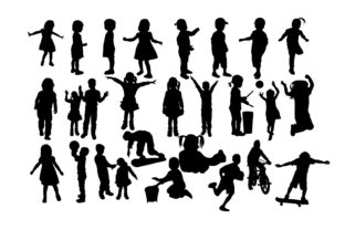Children Silhouette Graphic By twelvepapers