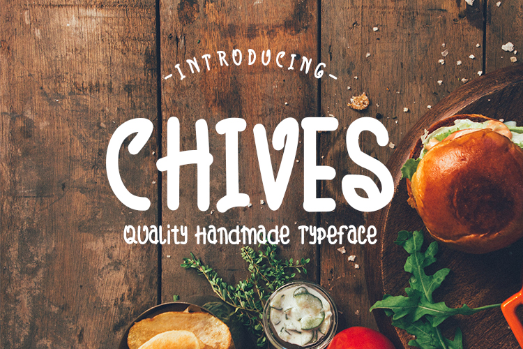 Download Free Chives Font By Mjb Letters Creative Fabrica for Cricut Explore, Silhouette and other cutting machines.