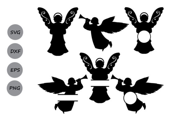 Download Free Christmas Angel Svg Graphic By Cosmosfineart Creative Fabrica for Cricut Explore, Silhouette and other cutting machines.