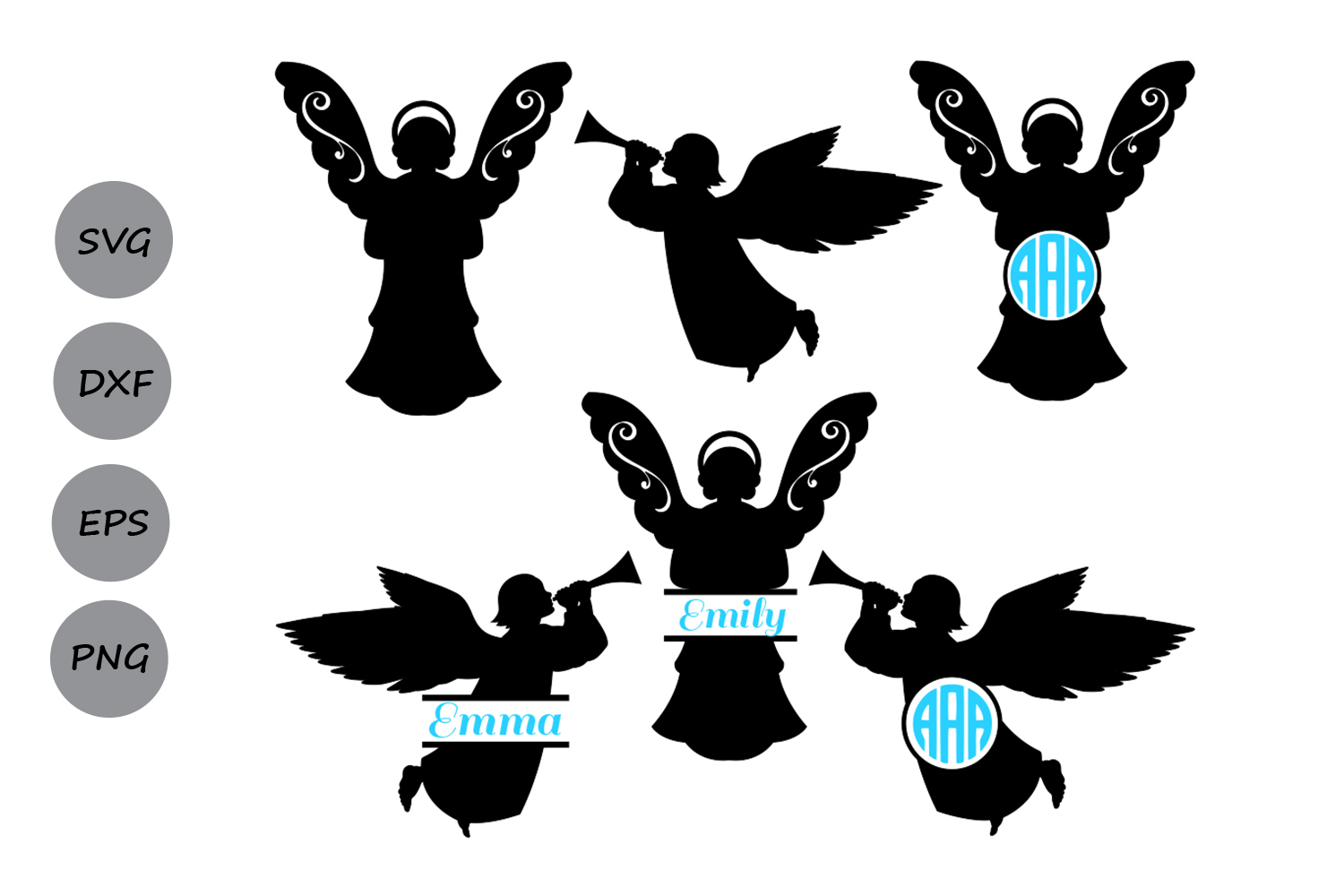 Download Free Christmas Angel Graphic By Cosmosfineart Creative Fabrica for Cricut Explore, Silhouette and other cutting machines.