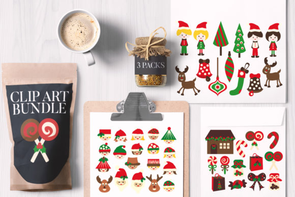 Print on Demand: Christmas Bundle, Kids and Sweets Graphic Illustrations By Revidevi