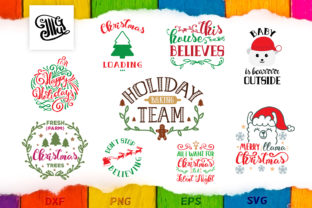 Download Free Christmas Bundle Graphic By Illustrator Guru Creative Fabrica for Cricut Explore, Silhouette and other cutting machines.