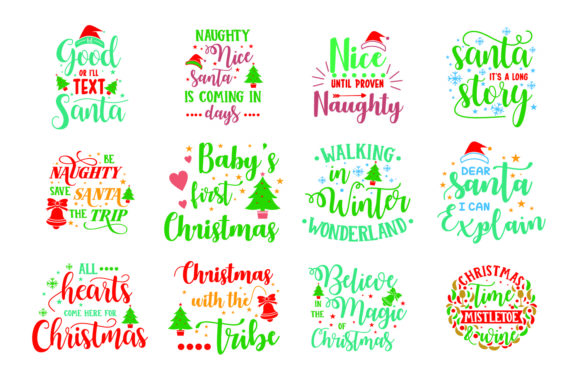 Download Free Christmas Bundle Graphic By Graphicrun123 Creative Fabrica for Cricut Explore, Silhouette and other cutting machines.