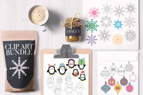 Print on Demand: Christmas Bundle Graphic Illustrations By Revidevi