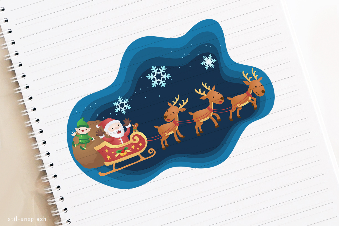 Download Free Christmas Club Santa Claus Elf And Reindeer Graphic By Holejohn for Cricut Explore, Silhouette and other cutting machines.