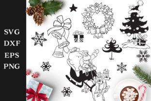 Christmas Elements Graphic Crafts By Nerd Mama Cut Files