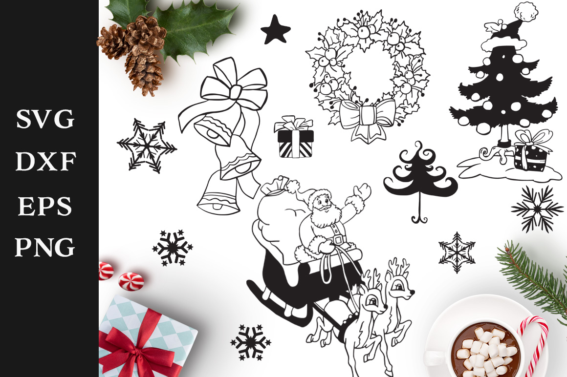 Download Free Christmas Elements Graphic By Nerd Mama Cut Files Creative Fabrica for Cricut Explore, Silhouette and other cutting machines.