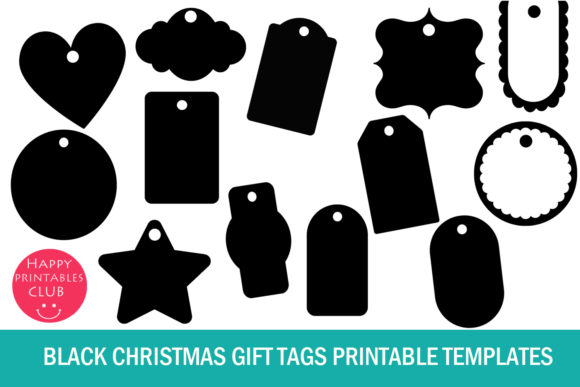 Download Free Christmas Gift Tags Printable Templates Graphic By Happy for Cricut Explore, Silhouette and other cutting machines.