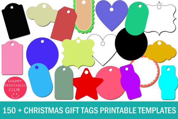 Print on Demand: Christmas Gift Tags Printable Templates Graphic Illustrations By Happy Printables Club