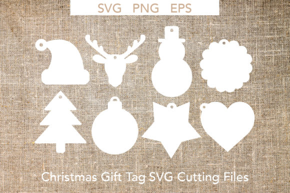 Christmas Gift Tags Svg Cutting Files Graphic By Liebreizdesign