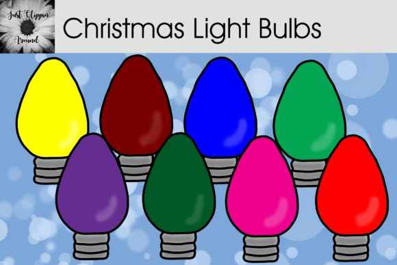 Christmas Light Bulbs Clip Art Graphic Illustrations By justclippinaround